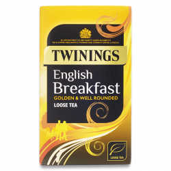 Twinings English Breakfast Loose Leaf tea box 125g per box, 4 boxes