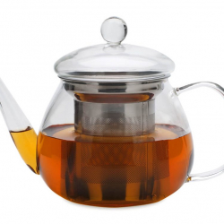 Small Petite Glass Teapot with Stainless Steel infuser(440ml)