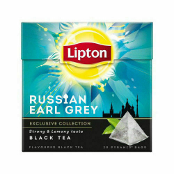 Lipton Russian Earl Grey Tea 4 Boxes, 20 Pyramid Tea Bags per box