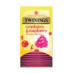 Twinings Cranberry and Raspberry 4 boxes, 20 Envelope tea bags per box
