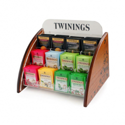 Twinings Luxury Wooden Stadium Stand with 100 Twinings tea bags