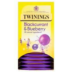 Twinings Blackcurrant and Blueberry 4 boxes, 20 Envelope tea bags per box