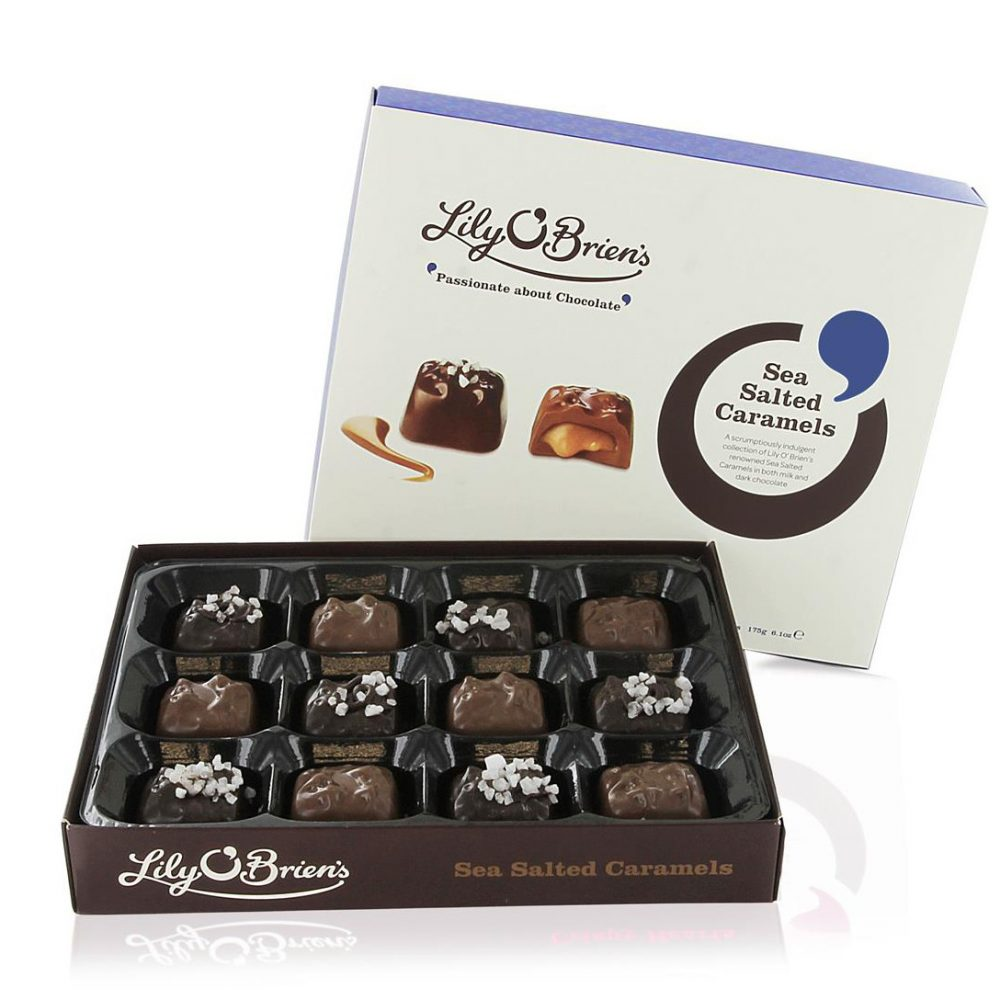 Lily O'Brien's Sea Salted Caramel, Milk & Dark Chocolate Collection, 175g, 2 Boxes